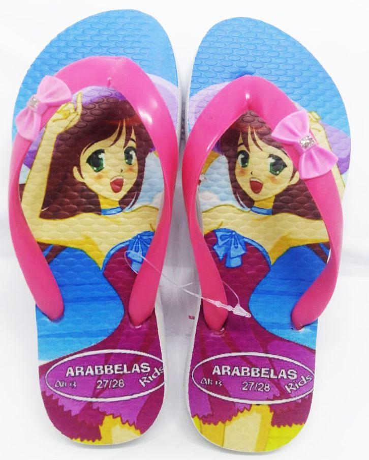 Kit 12 pares de chinelos atacado Arabbelas Kids  mod. 13