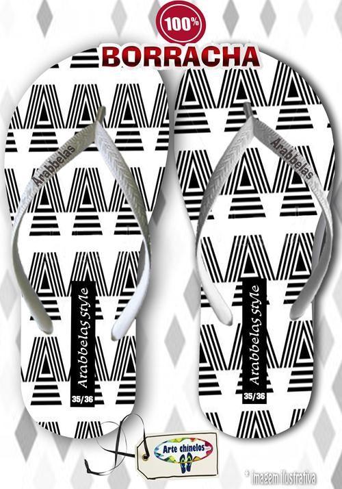 Kit com 12 pares de chinelos atacado para revenda Arabbelas New  Mod. 03