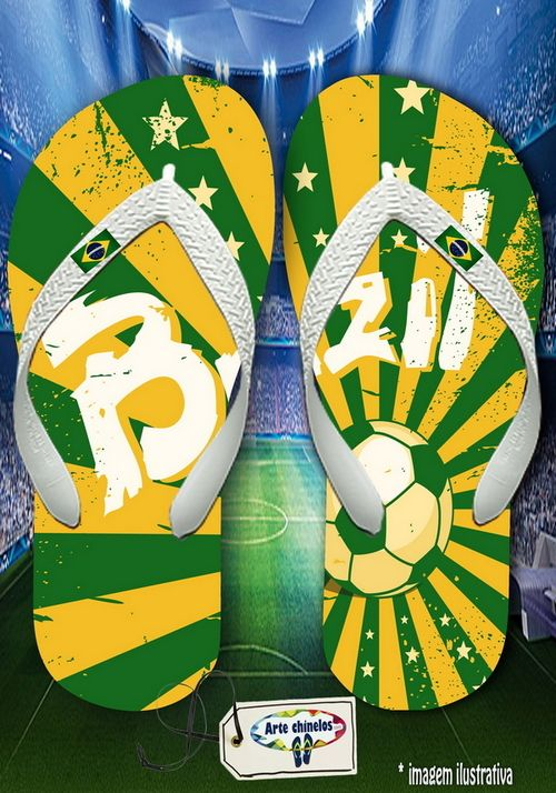 Kit com 12 pares de chinelos atacado para revenda Brasil Masc 03