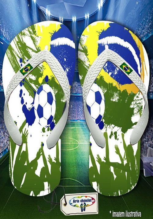 Kit com 12 pares de chinelos atacado para revenda Brasil 04  - Arte Chinelos Atacado