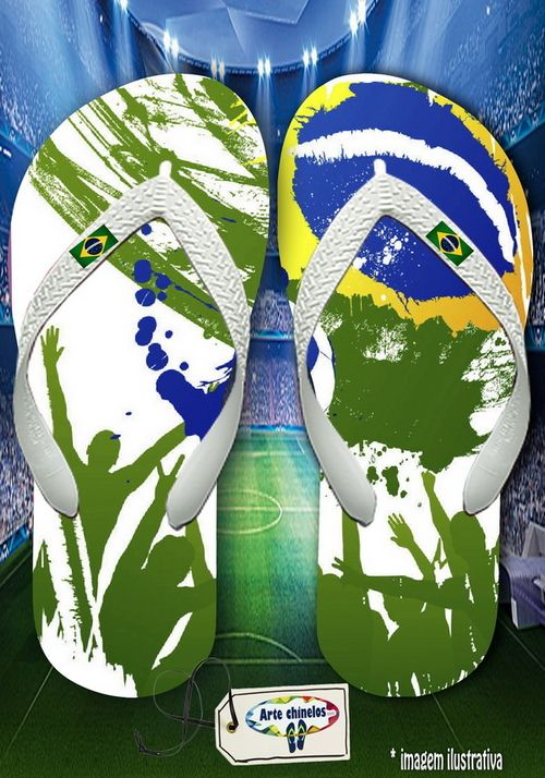 Kit com 12 pares de chinelos atacado para revenda Brasil Masc 06