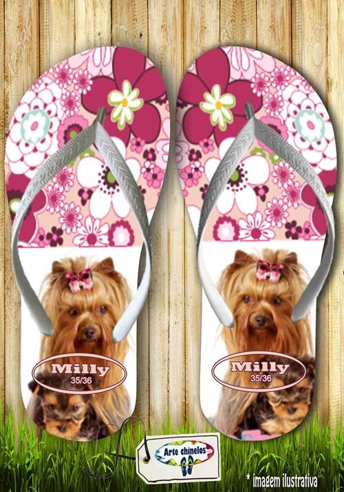 Kit com 12 pares de chinelos atacado para revenda  Milly animals Mod. 02