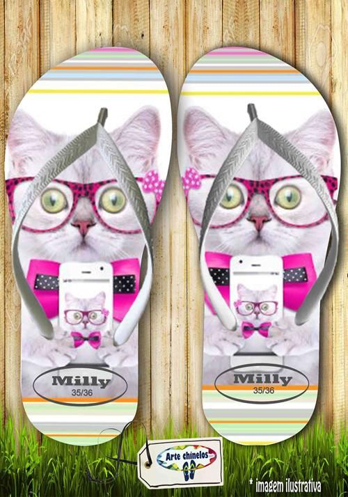 Kit com 12 pares de chinelos atacado para revenda  Milly animals Mod. 06
