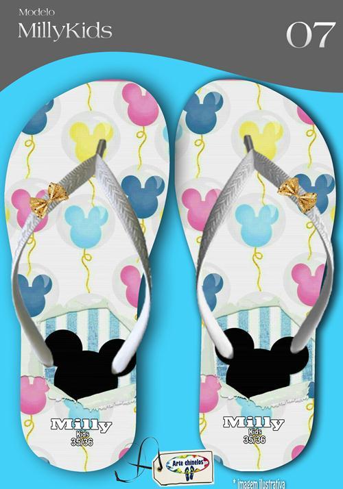 Kit com 12 pares de chinelos atacado para revenda  Milly kids metalizada  mod.07  - Arte Chinelos Atacado