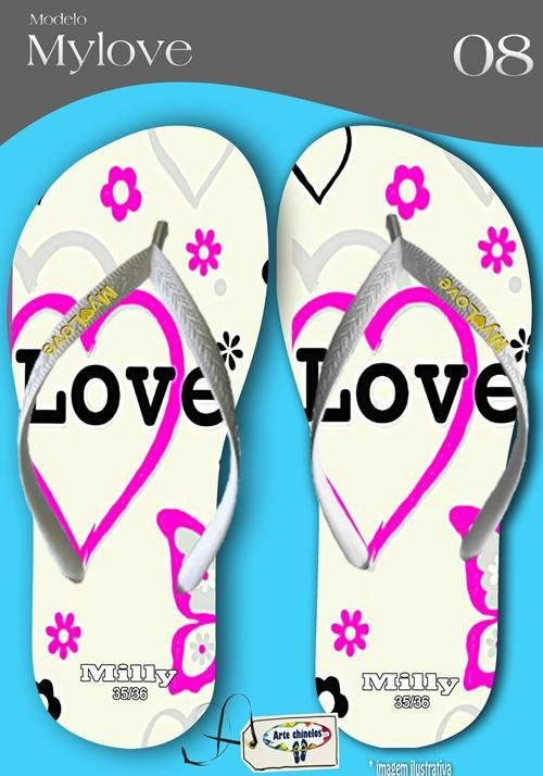 Kit com 12 pares de chinelos atacado para revenda  Milly My love mod.08