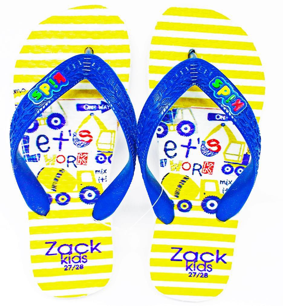 Kit 12 pares de chinelos atacado Zack Kids mod. 4