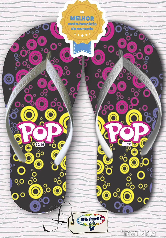Kit com 12 pares de chinelos linha popular Feminino MOD.01