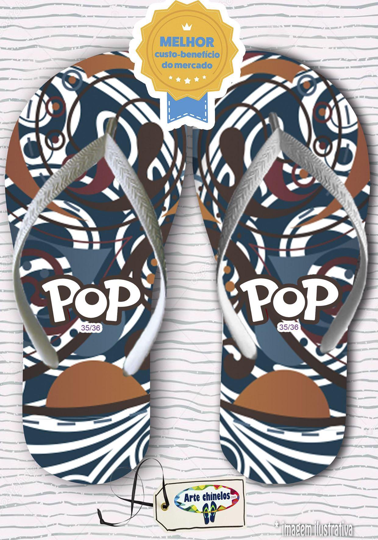 Kit com 12 pares de chinelos linha popular Feminino MOD.04