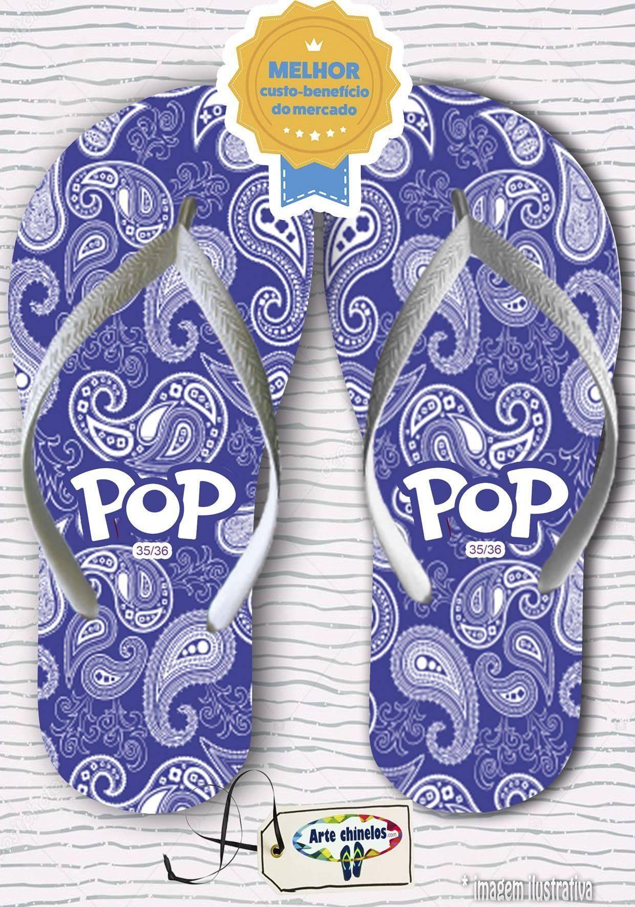 Kit com 12 pares de chinelos linha popular Feminino MOD.05