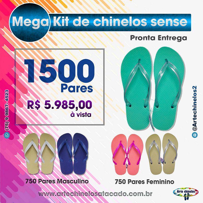 Mega Kit de Chinelos Sense/Lisos 1500 Pares + Frete grátis