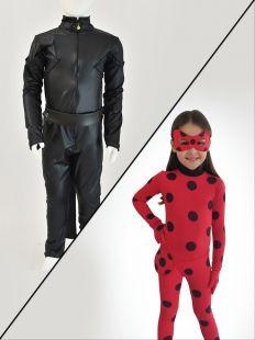 Duas Fantasias: Ladybug / Cat Noir