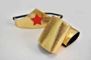 Tiara e bracelete Mulher Maravilha - Mod 1