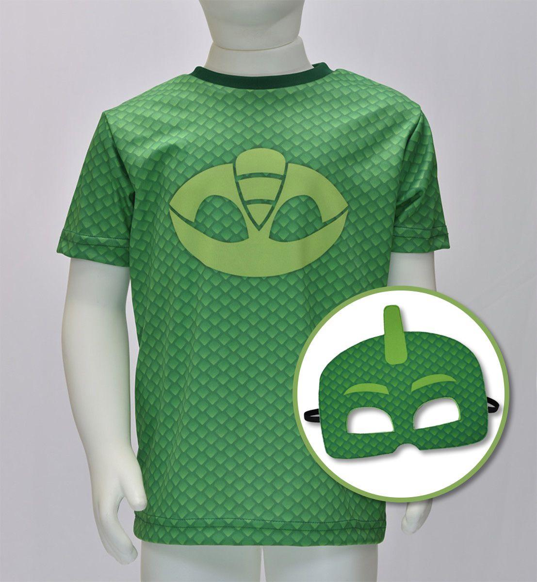 Menino Lagartixo - Camiseta + máscara