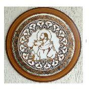 Quadro Decorativo Mandala São Francisco De Assis - 65cm Diâmetro