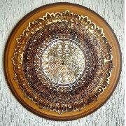 Quadro Decorativo Medalha Ricco Mandala Madeira Decoração