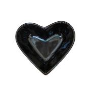 Bowl Petisqueira Coração em Cerâmica 200ml - Preto