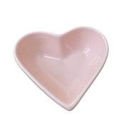 Bowl Petisqueira Coração em Cerâmica Rosa 200ml
