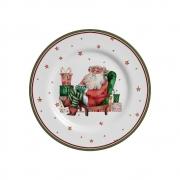 Kit 6 Pratos de Sobremesa Father Christmas Natal Alleanza Natal