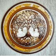 Mandala Quadro Decorativo Árvore da Vida Gold Decoração sala 65cm Diâmetro