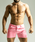 Short piquet de malha rosa bb