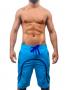 Bermuda masculina de moletom com dois tons de azul