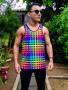 Camiseta regata colorida