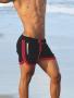 Short de praia masculino preto com viés rosa
