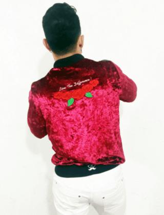 Jaqueta bomber vermelha