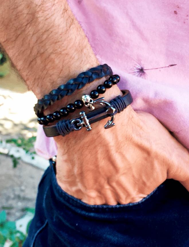 Mix com 3 pulseiras (Black 01)