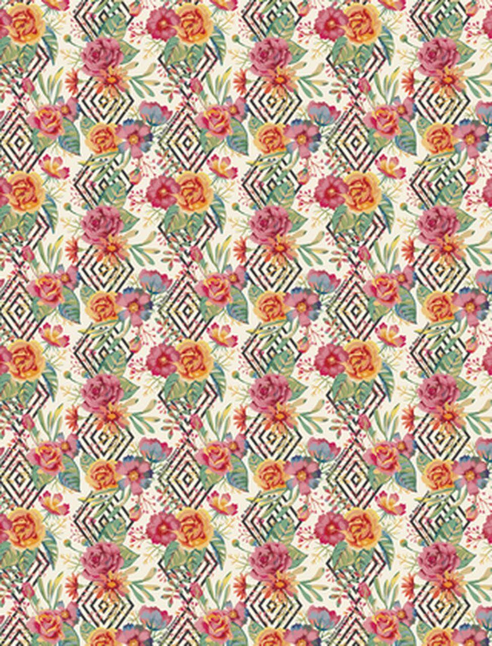 Short curto estampado flores geometricas
