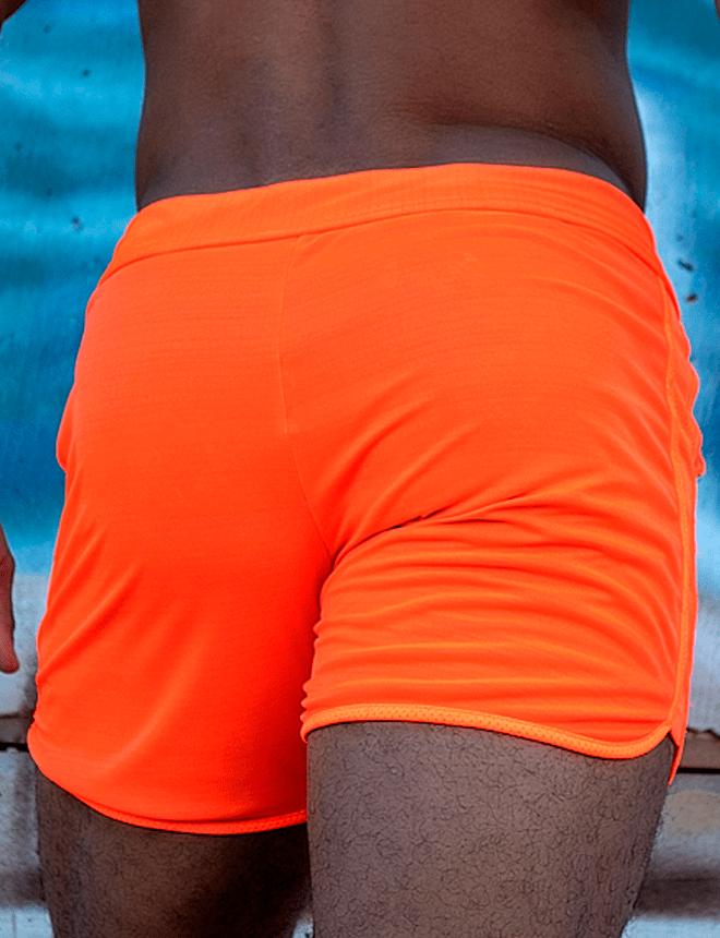 Short neon laranja