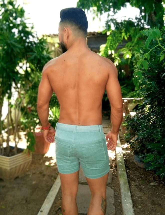 Short veludo verde