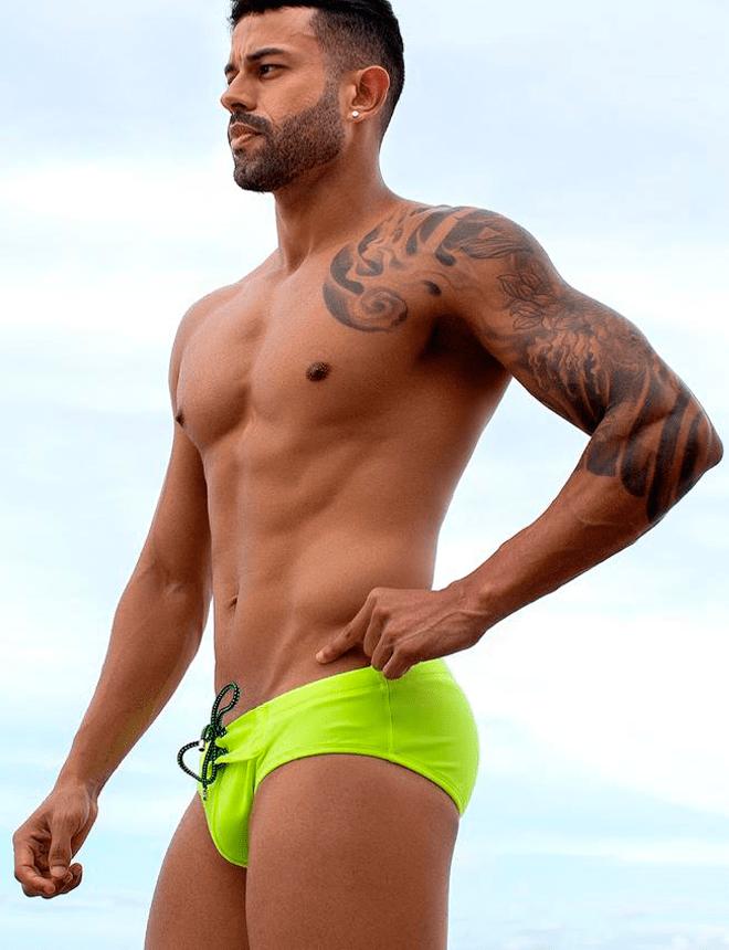 sunga slip limão neon 2020