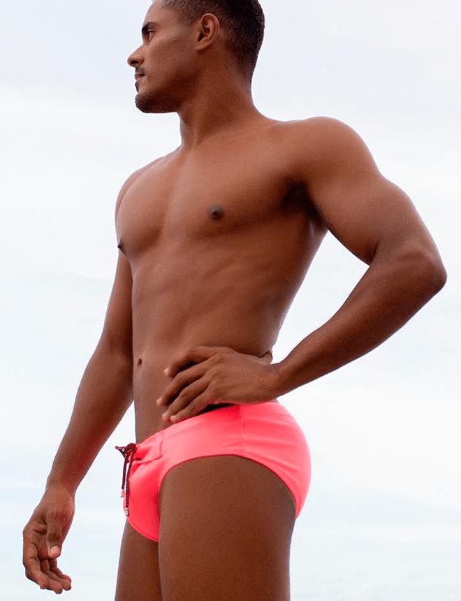 Sunga slip rosa neon 2020
