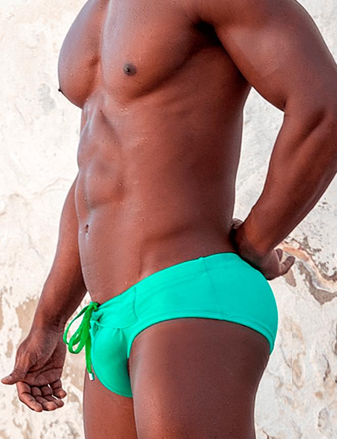 Sunga slip verde coleção neon