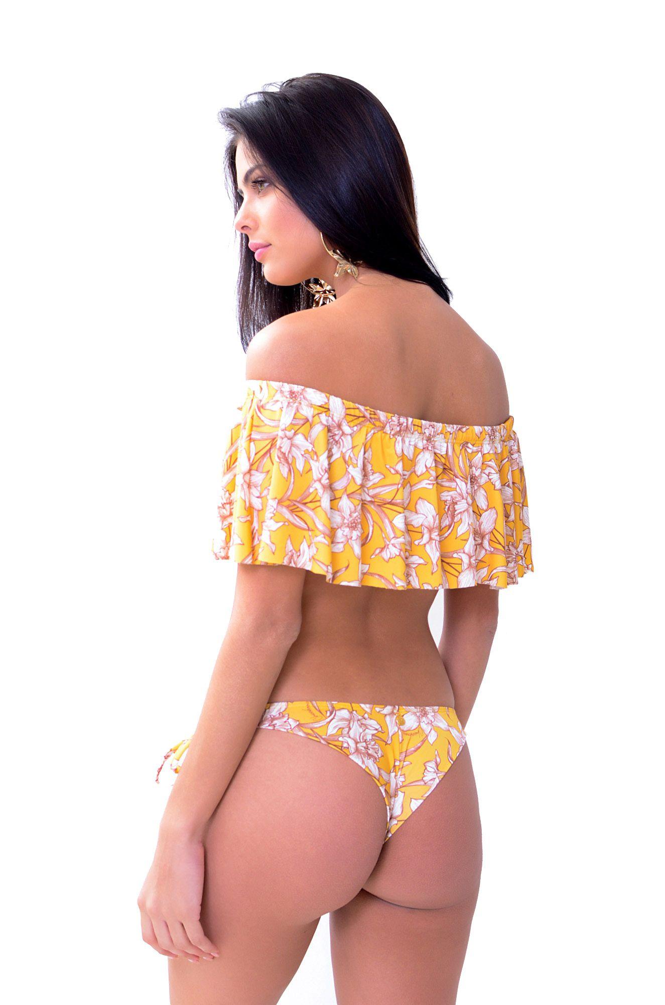 Biquíni Cropped Tanga Sunguete Argolinha Cartagena