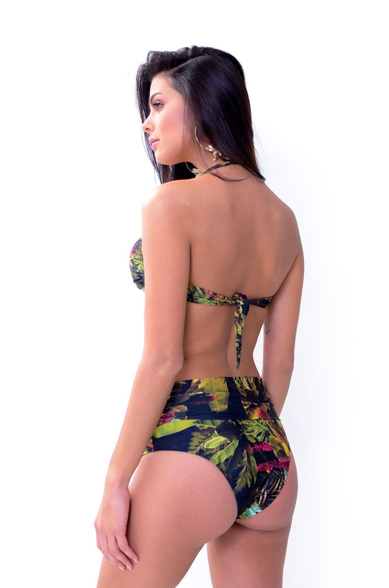 Biquíni Tomara que Caia Tanga Hot Pant Santorini *