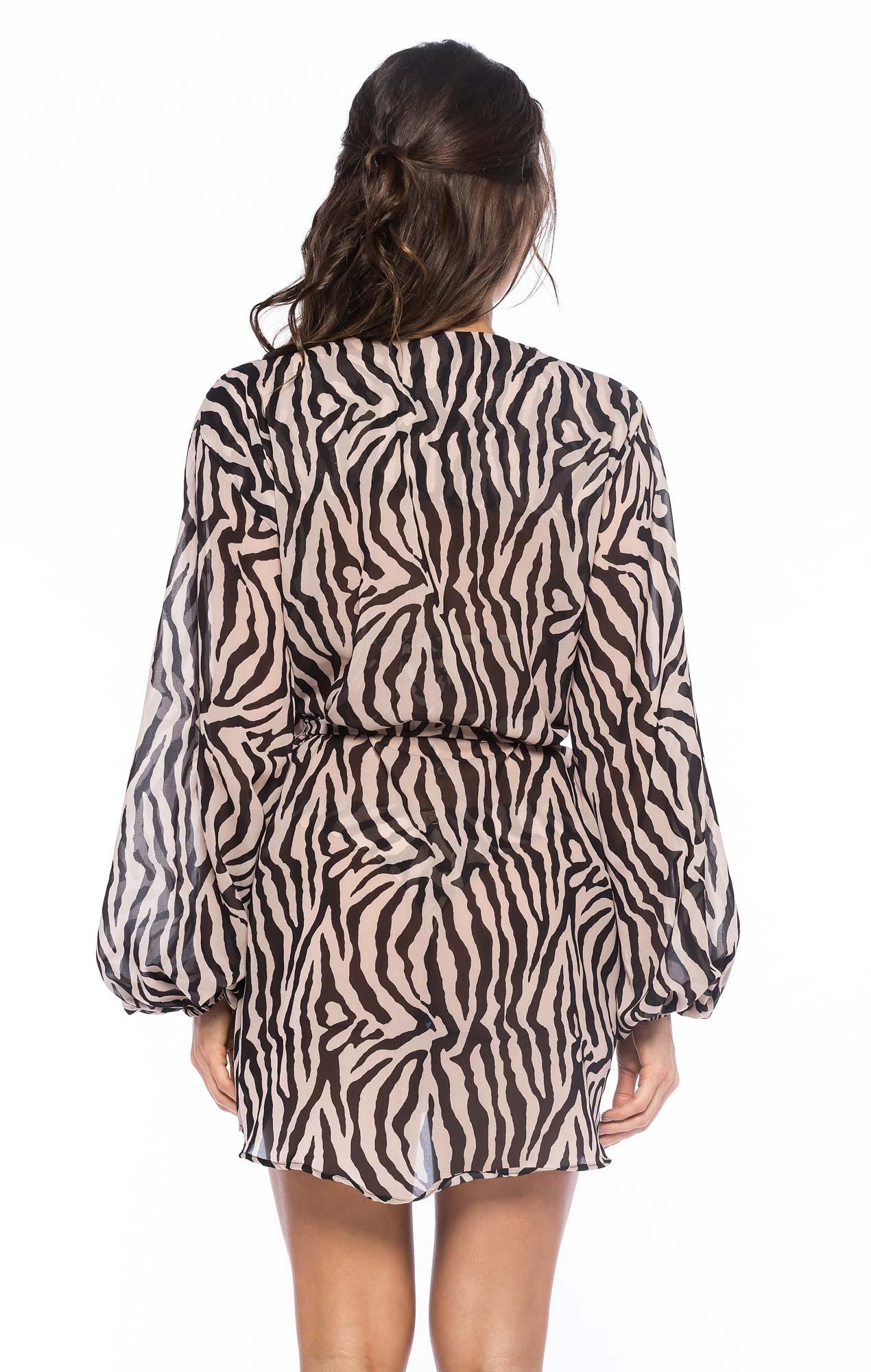 Chemise Curta Zebra Nude