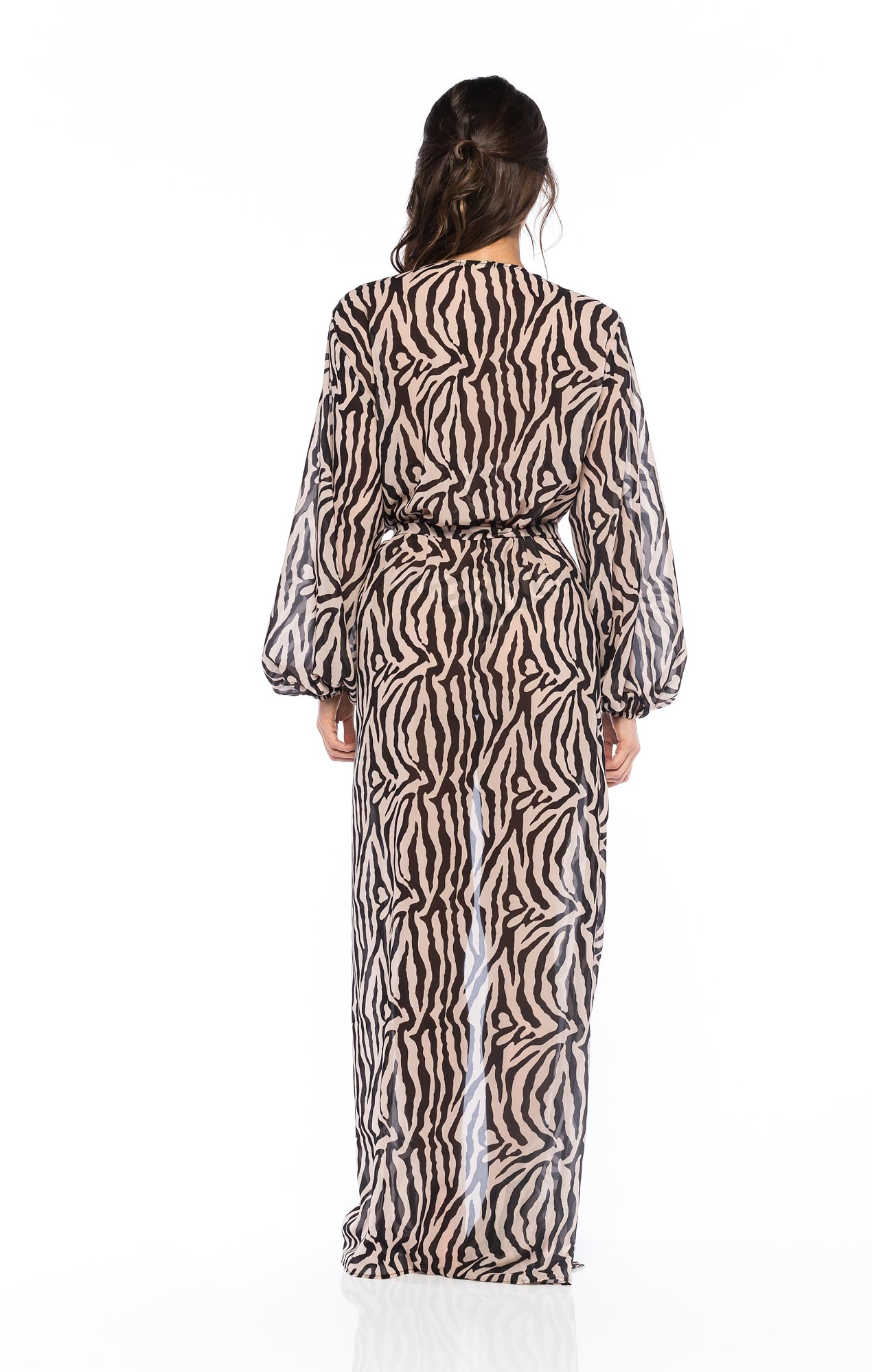 Chemise Longa Zebra Nude