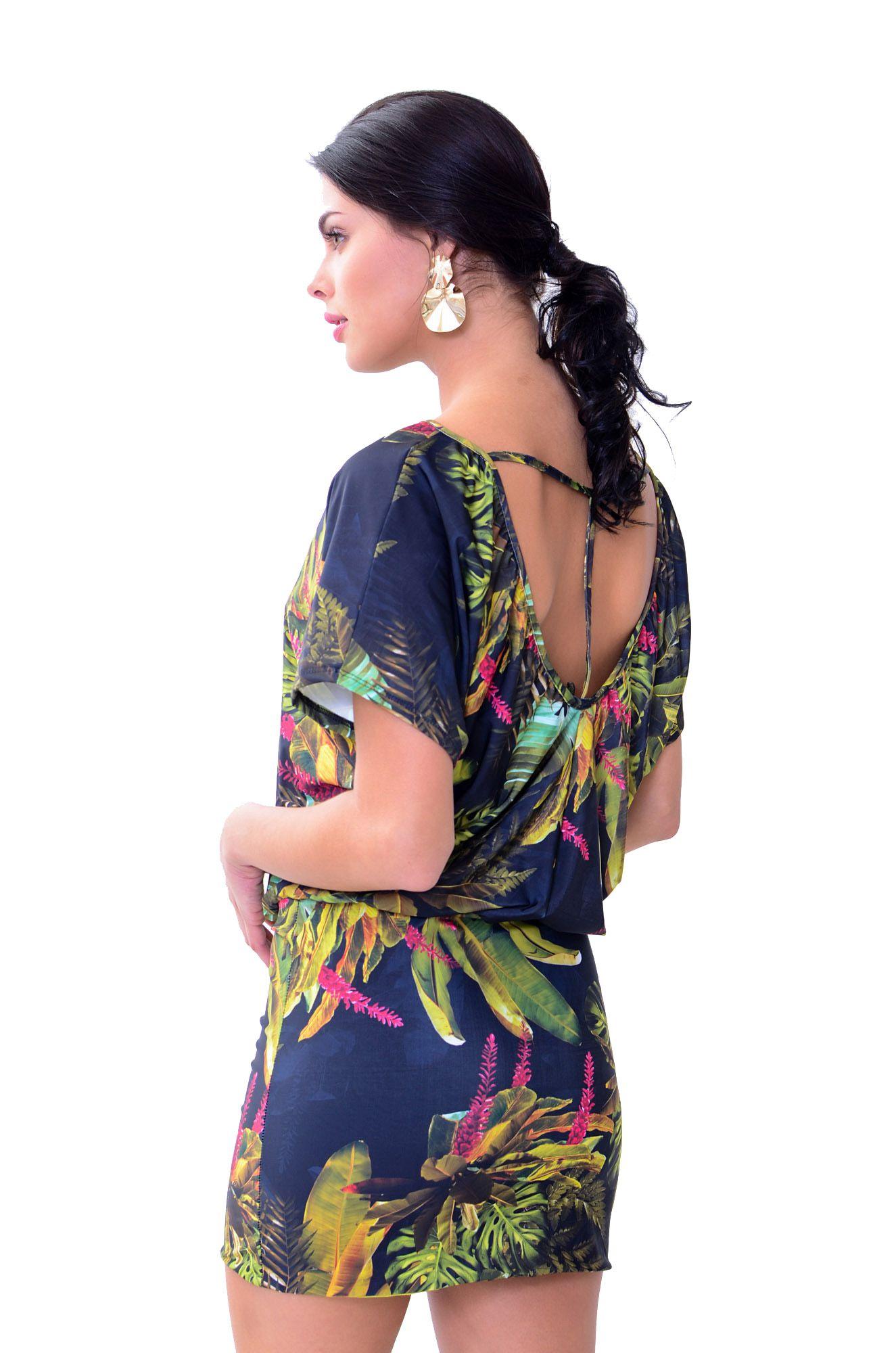 Vestido com Barra Dupla Santorini