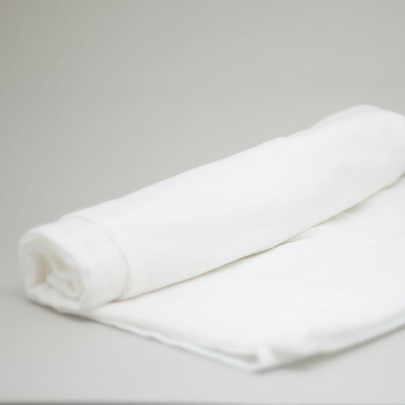flufi uma camada de algodão em cor branco