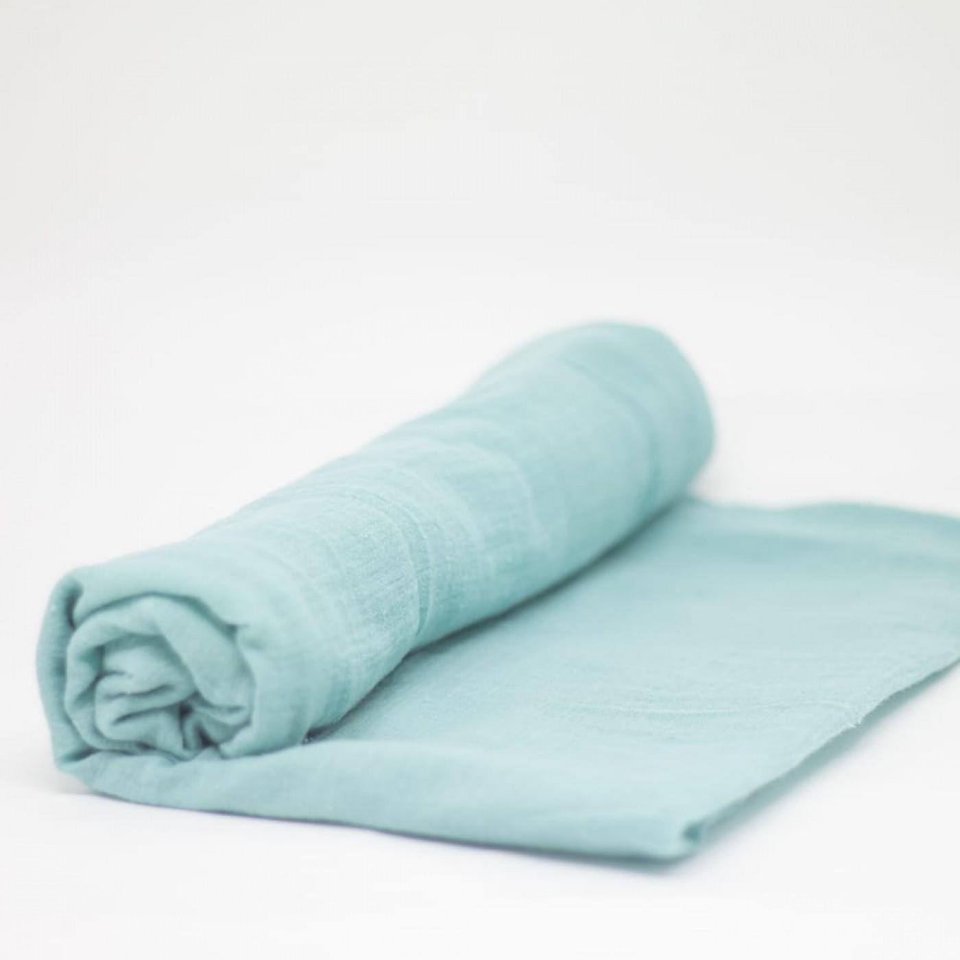flufi uma camada de algodão em cor azul tiffany