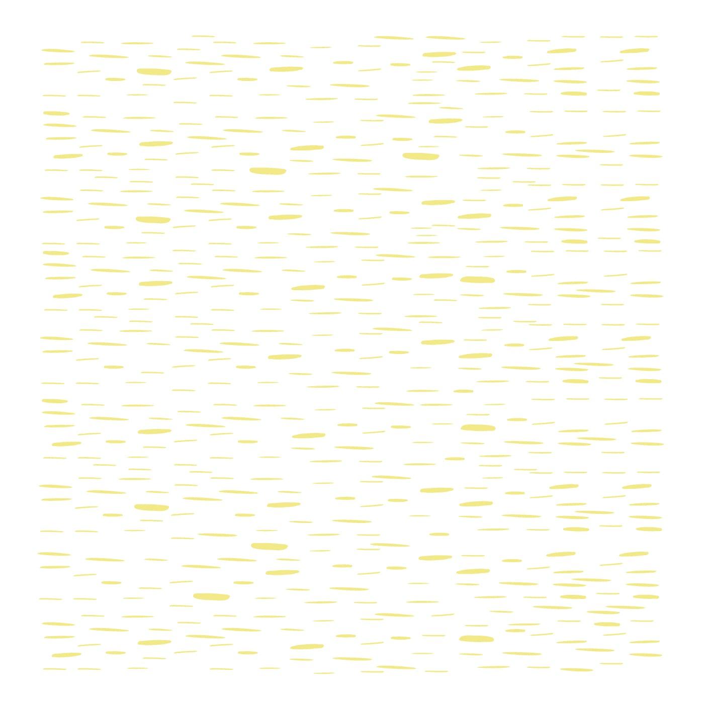 flufi uma camada de algodão: riscos amarelo. Kit com 3 unidades