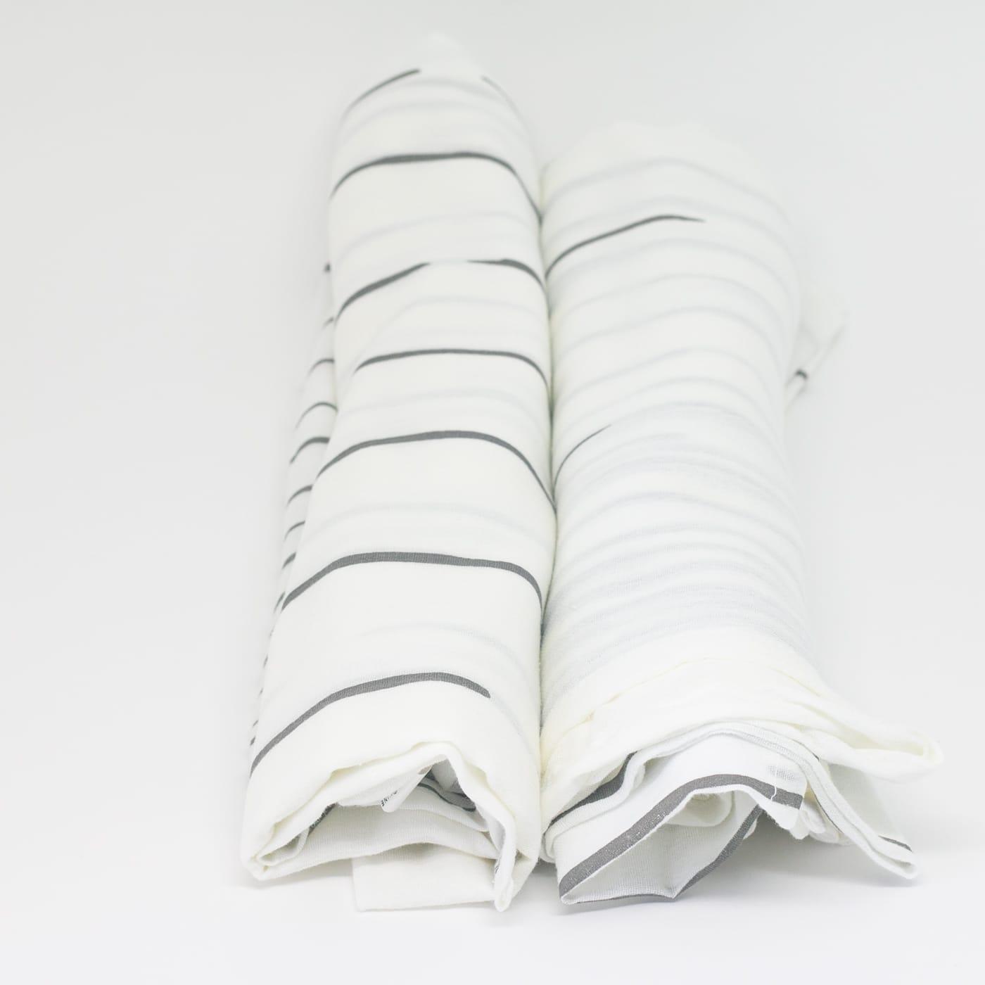 flufi uma camada de algodão: linhas cinza. Kit com 2 unidades