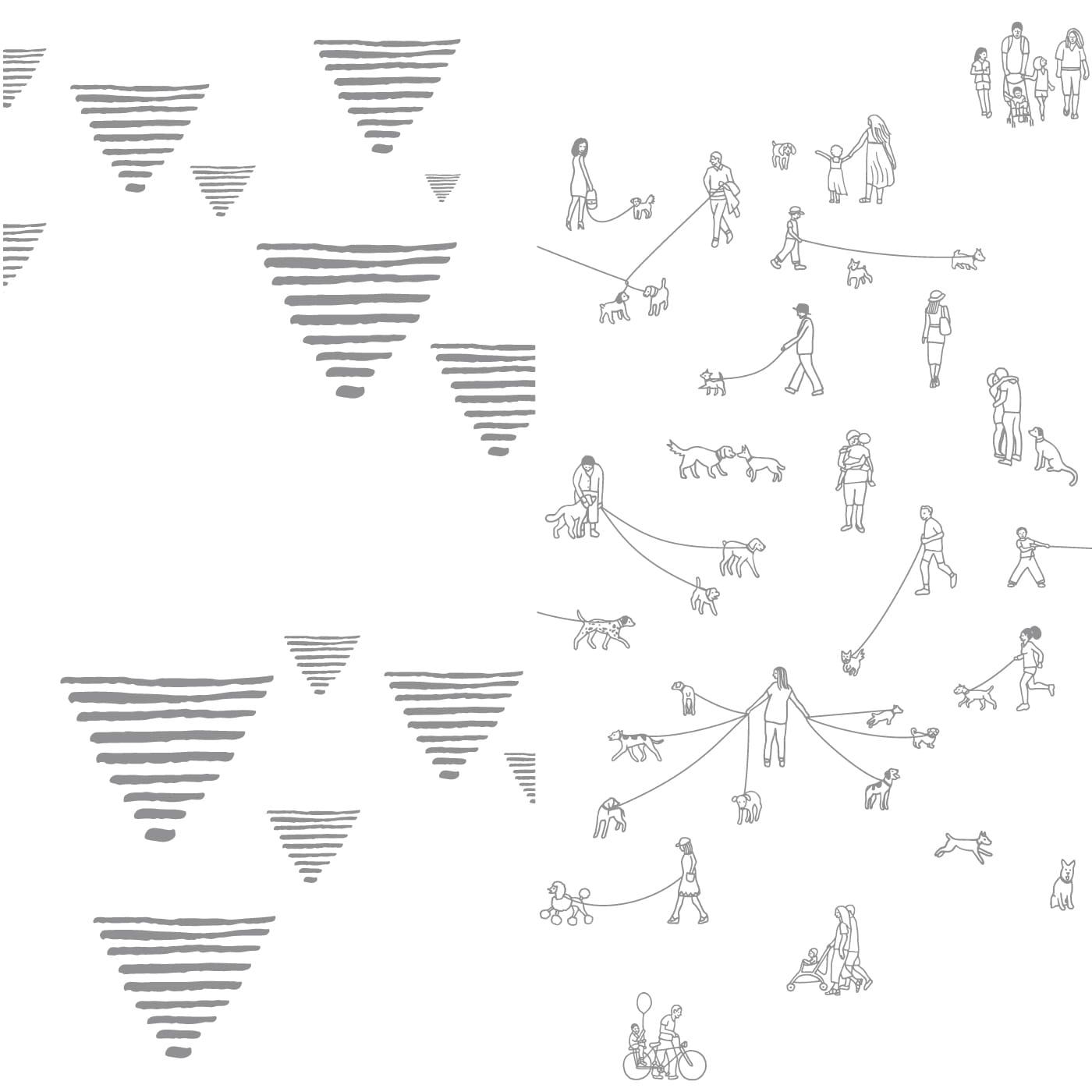 flufi uma camada de algodão: grafismo cinza + passeio cinza. Kit com 2 unidades