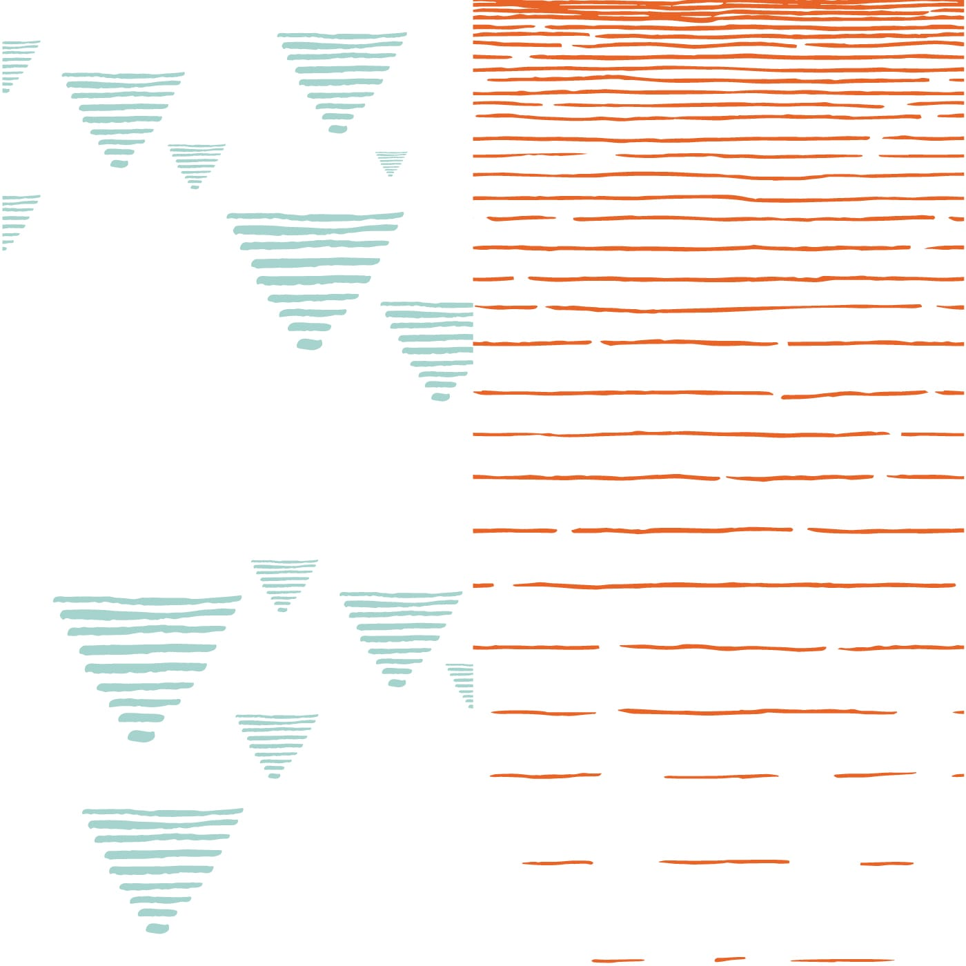 flufi uma camada de algodão: grafismo azul + linhas laranja. Kit com 2 unidades