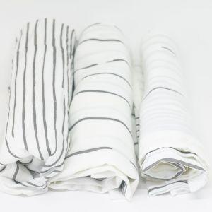 flufi uma camada de algodão: linhas cinza. Kit com 3 unidades