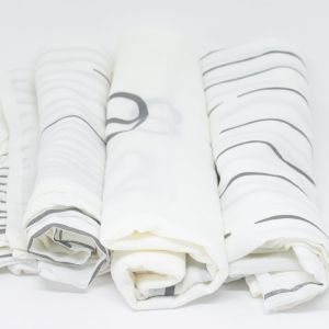 flufi uma camada de algodão: linhas cinza + linhas cinza + mêsversário. Kit com 3 unidades