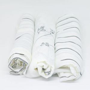 flufi uma camada de algodão: linhas cinza + linhas cinza + passeio cinza. Kit com 3 unidades