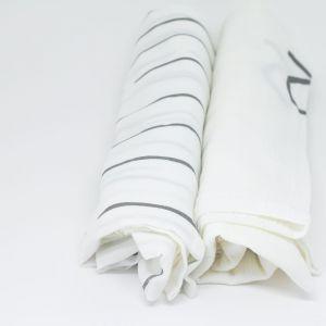 flufi uma camada de algodão: linhas cinza + 1 flufi mêsversário. Kit com 2 unidades